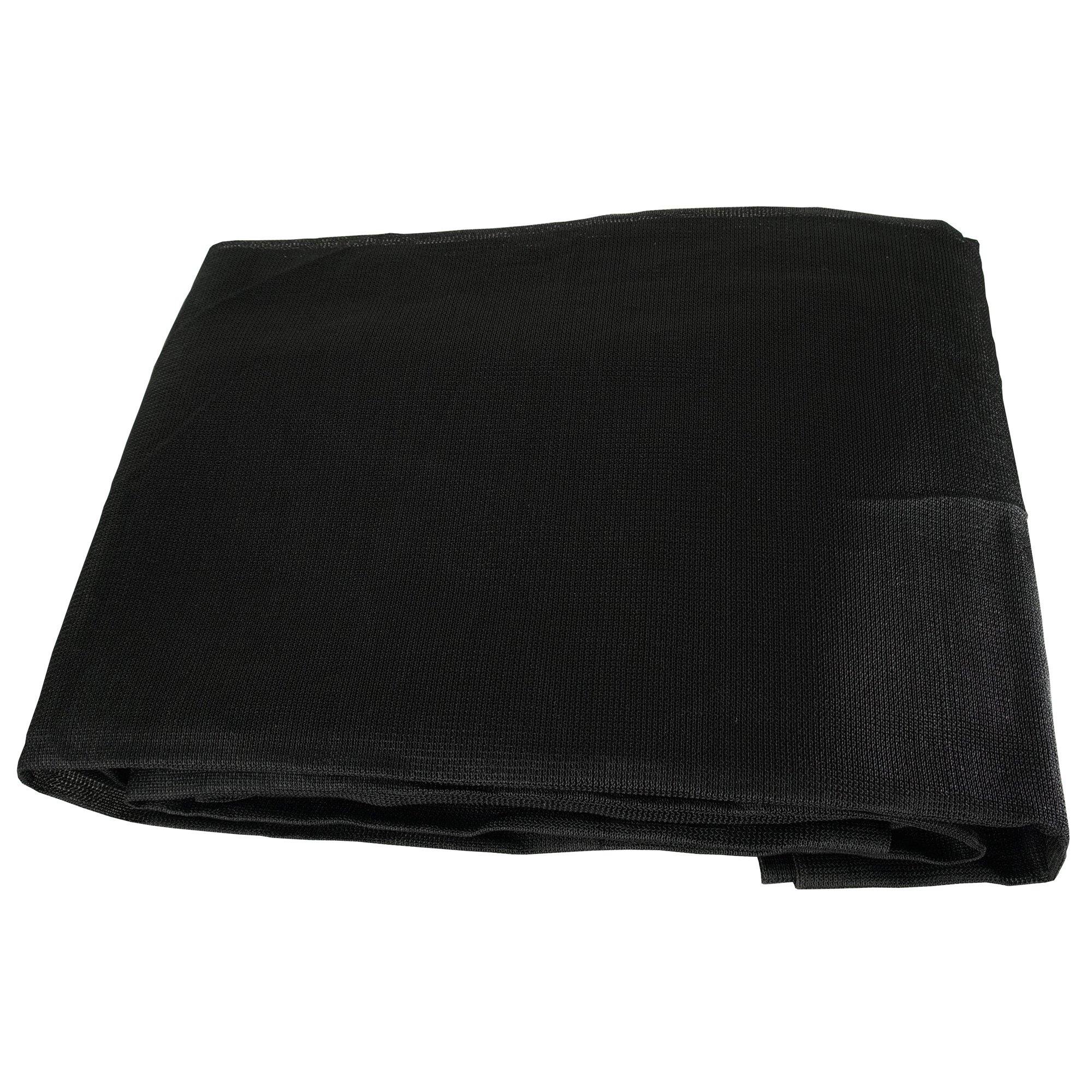 Black Mesh 12x12 Heavy Duty UV Screen Shade Canopy Patio Yard Tarp Sun Cover