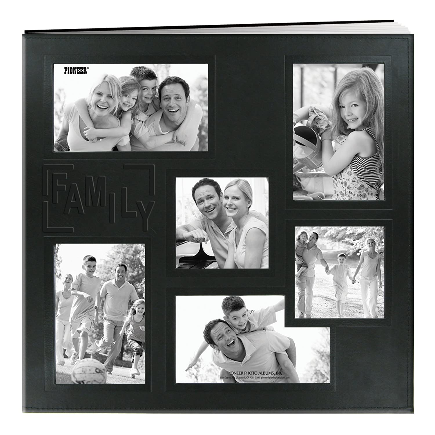 Pioneer Photo Albums 12 x 12-Inch Collage Frame EmbossedBaby Sewn Leatherette Cover Memory Book, Baby Blue MB-10COLBB