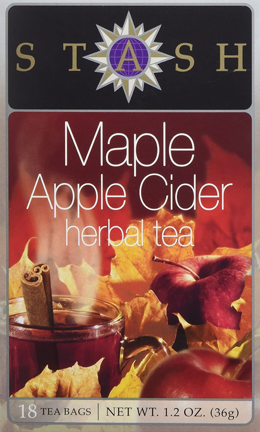 Stash Tea, Tea Bag Maple Apple Cider, 18 Count