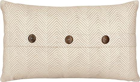 Cute Cushion Cover Striped Black Neurtal. Grey Cream Beige Laura Ashley