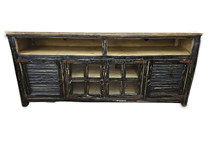 Hiend Rustic Western Antique Distressed Reclaimed Wood Look TV Stand Solid  Wood Already Assembled (80 - Amazon.com: Hiend Rustic Western Antique Distressed Reclaimed Wood