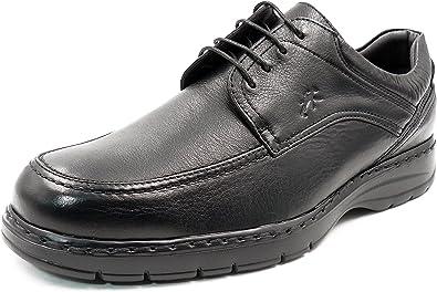 Zapatos Hombre con Cordones FLUCHOS - Piel Color Negro - 9142-78