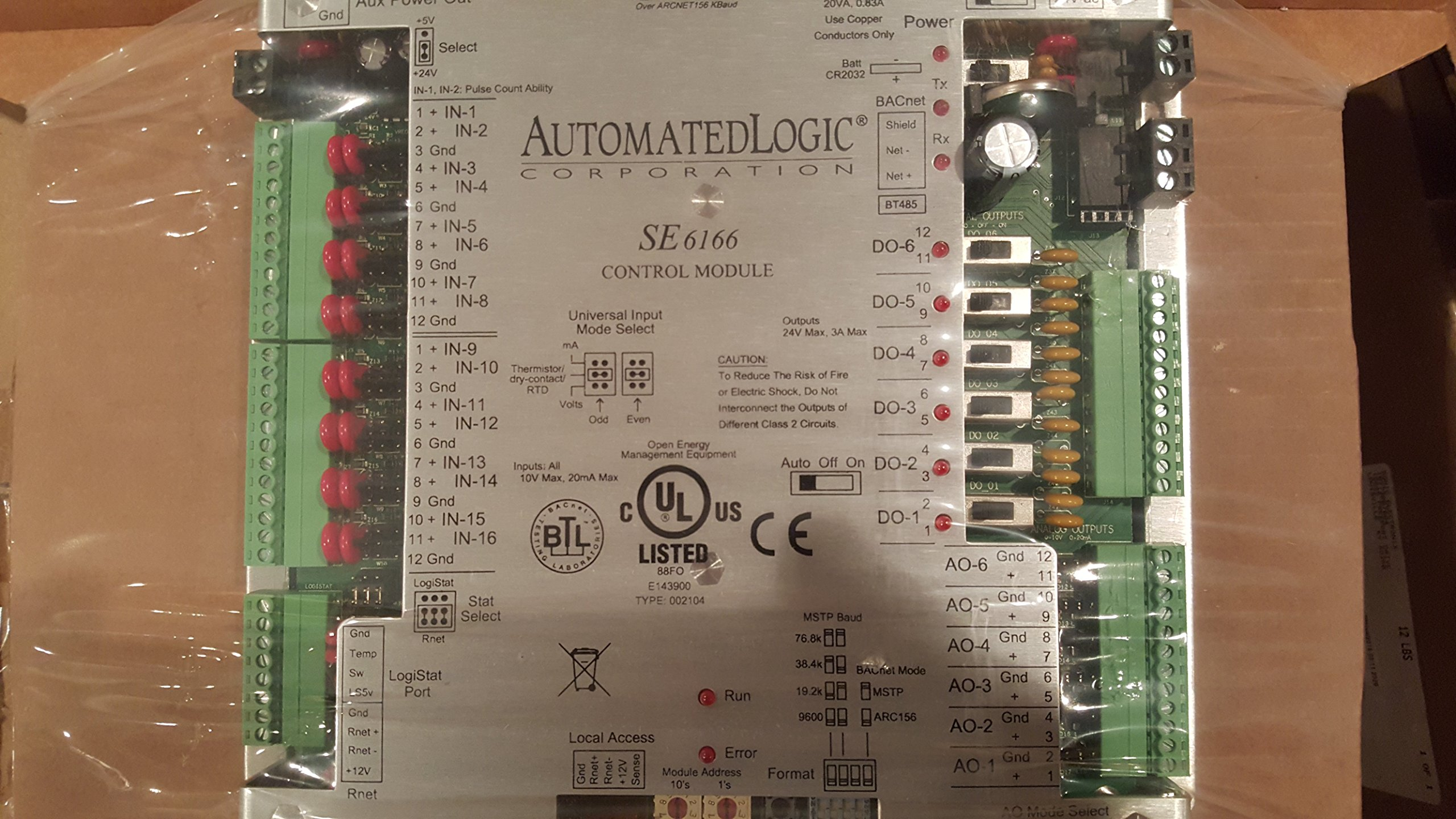 automated logic se6166