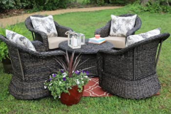 AE Outdoor 5 Piece Beltline Swivel Seating