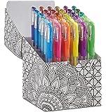 ECR4Kids GelWriter Gel Pens Set Premium Multicolor in Black and White Coloring Box (36-Count)