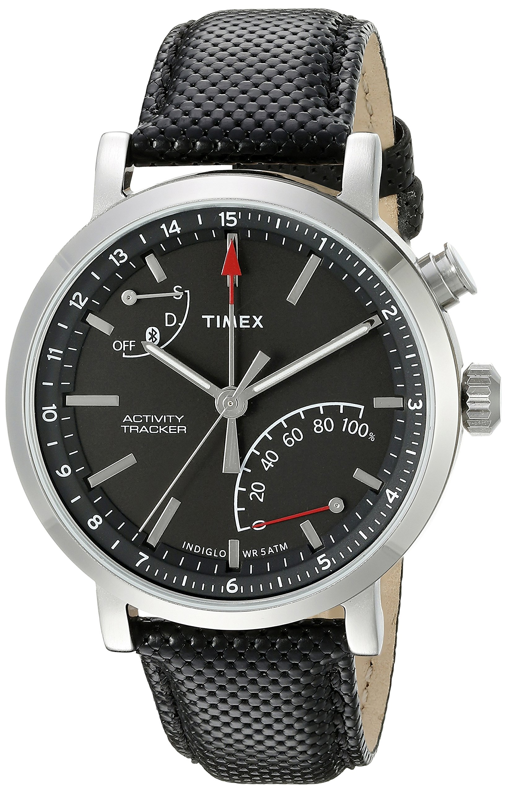Timex Unisex TW2P81700 Metropolitan+ Activity Tracker Watch with Black Leather Strap