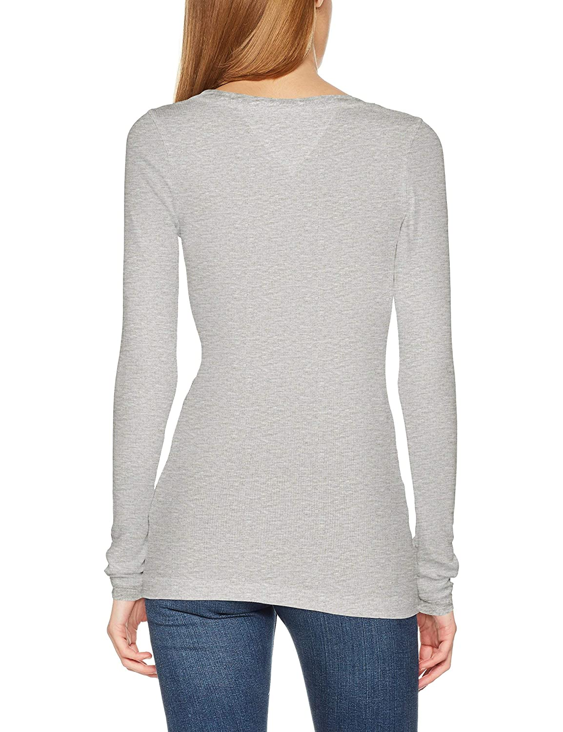 e0655a452 Tommy Hilfiger Women's Long Sleeve Original Ribbed Shirt at Amazon Women's  Clothing store: