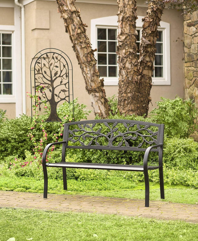 Plow & Hearth Metal jardín Enrejado con diseño de árbol de la Vida ...