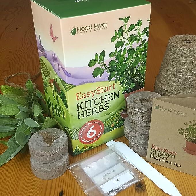Amazon.com: EasyStart Kitchen Garden Herbs   Organic Herb Kit   Everything  You Need To Start 6 Organic Kitchen Herbs: Kitchen U0026 Dining