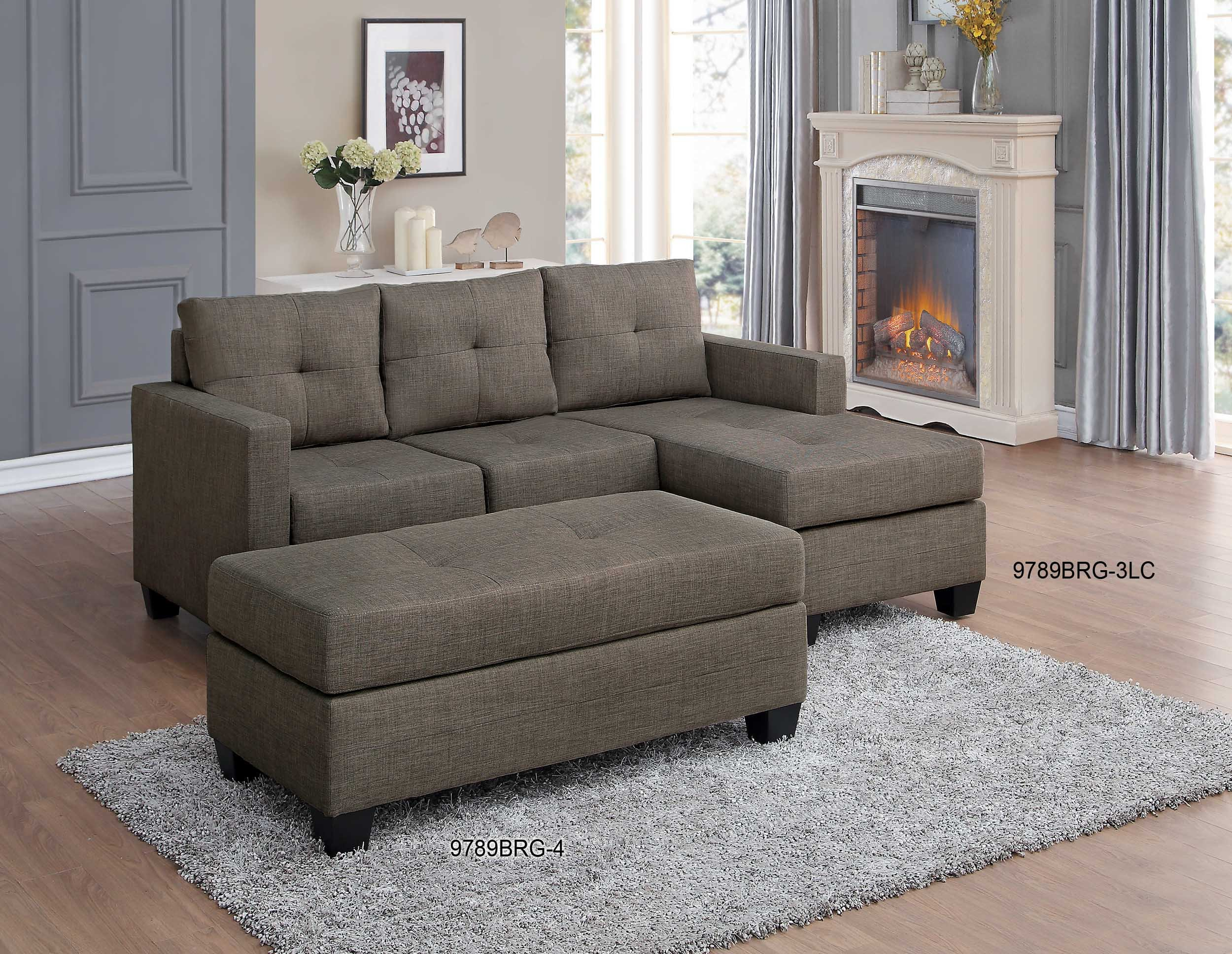 Homelegance Phelps Contemporary Microfiber Sectional Sofa with