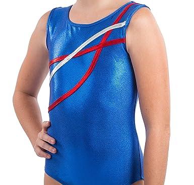 89dc03560f83 Amazon.com  Lizatards Ribbon Accent Gymnastics Leotard