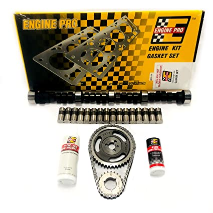 amazon com: chevy sbc 350 5 7l hp stage 3 465/465 camshaft install kit 1987-1995  tbi engine: automotive