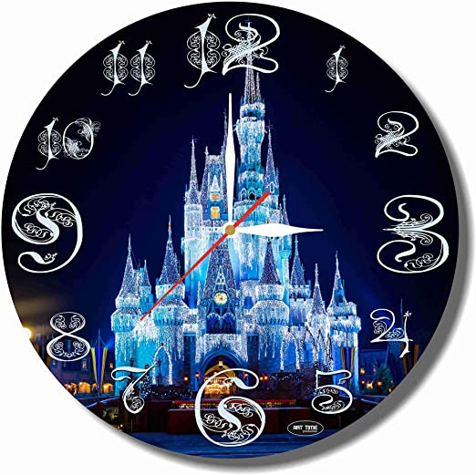 Mickey Mouse 11.8/'/' Handmade Art Wall Clock parents and your soul mates friends Get unique d/écor for home or office made of plastic Best gift ideas for kids