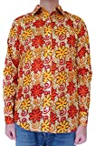 Bent Banani Floral Men's Shirts - Shepherd (Long Sleeve) Orange