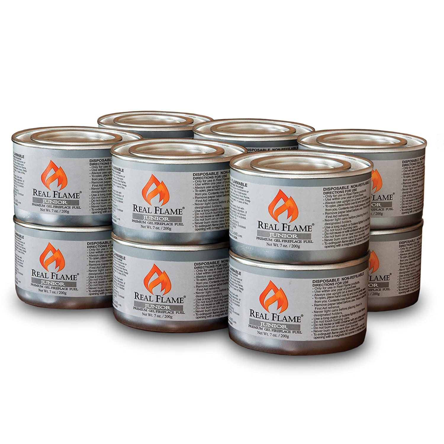 amazon com real flame junior gel fuel 7 oz cans 12 pack