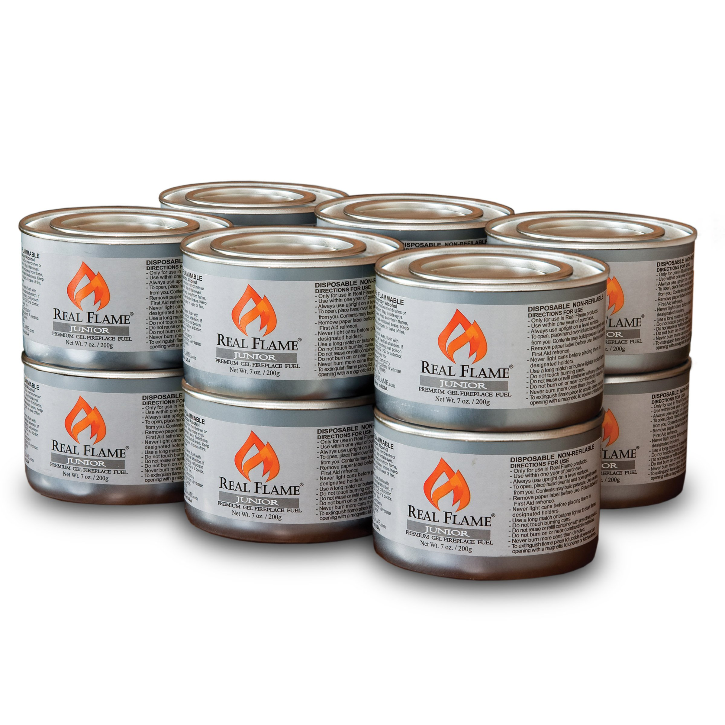 Real Flame Junior Gel Fuel - 7 oz cans; 12-Pack