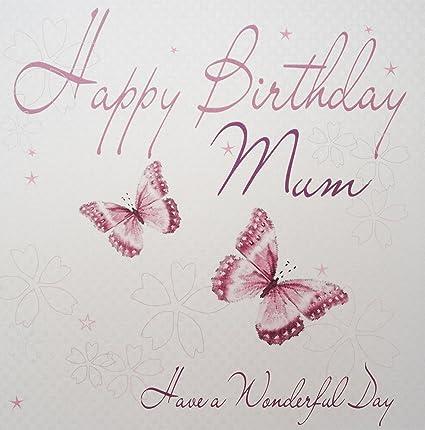 White Cotton Cards. Mariposas. Tarjeta de cumpleaños ...