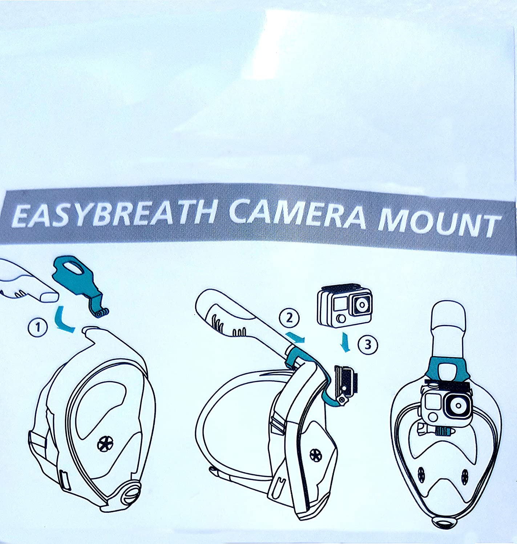 Original Tribord EASYBREATH Snorkeling máscara buceo con desmontable para cámara de deportes de acción (GoPro compatible) azul talla: M-L (adultos): ...