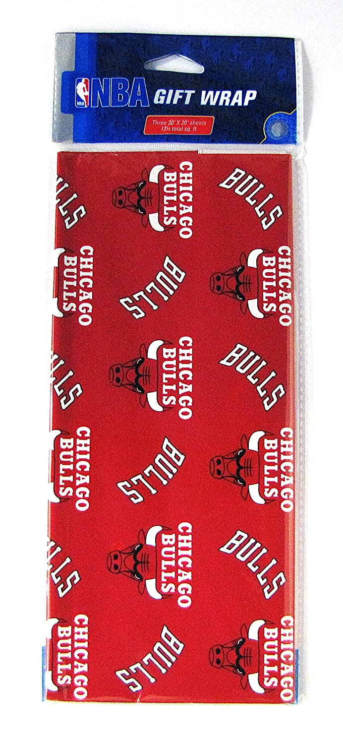 amazon com nba chicago bulls wrapping paper gift wrap paper