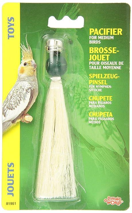 Amazon.com: Living world Chupete mediana para aves: Mascotas