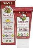 Badger Balm Zinc Oxide Face Sunscreen Lotion Reformulation - SPF 25 - 1.6 oz
