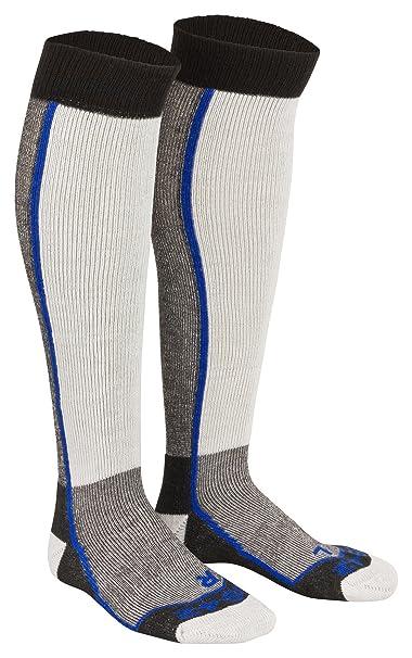 Tobeni 2 Pares de Esquis y Calcetines de Snowboard Thermolite Calcetines hasta la Rodilla para Mujer y Hombre Color Azul Tamano 35-38: Amazon.es: Ropa y ...