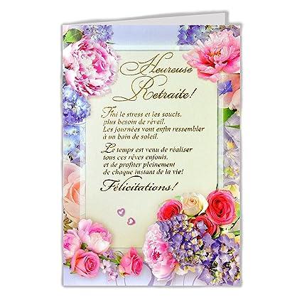 afie 35 - 762 tarjeta despedida Feliz jubilación - flores ...
