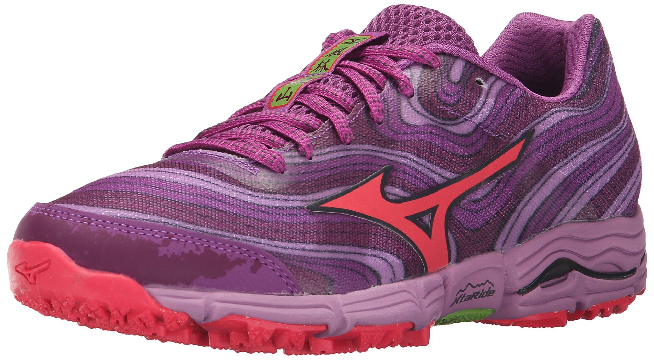 Mizuno Women's Wave Kazan Trail Running Shoe, Purple/Pink, 8.5 B US