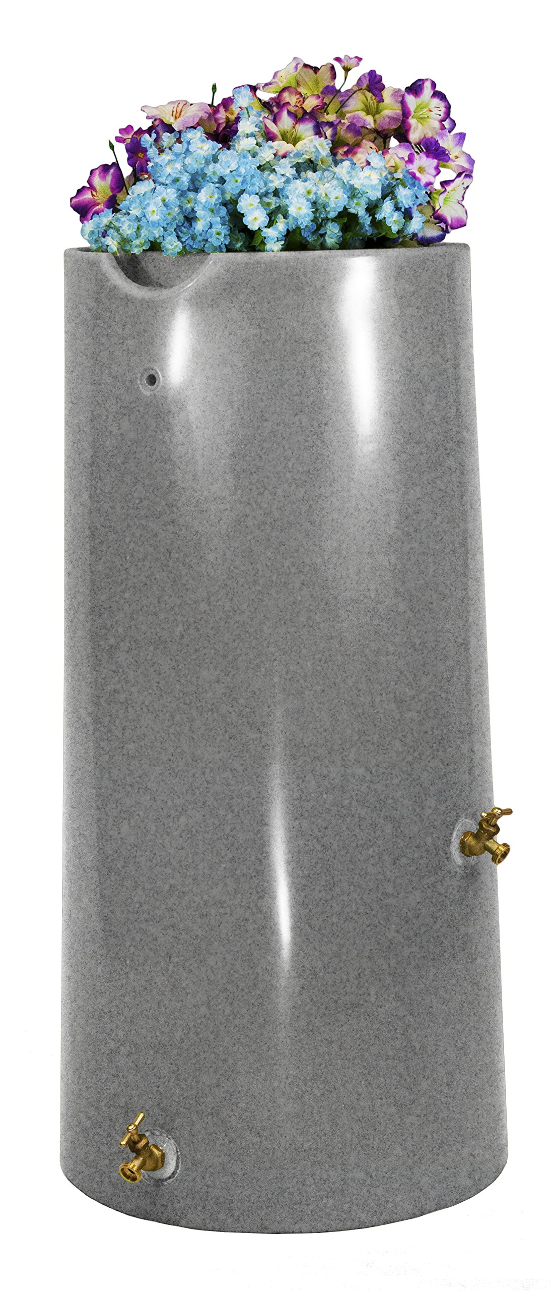 Good Ideas IMP-R50-LIG Impressions Reflections Rain Saver Rain Barrel, 50 gallon, Light Granite