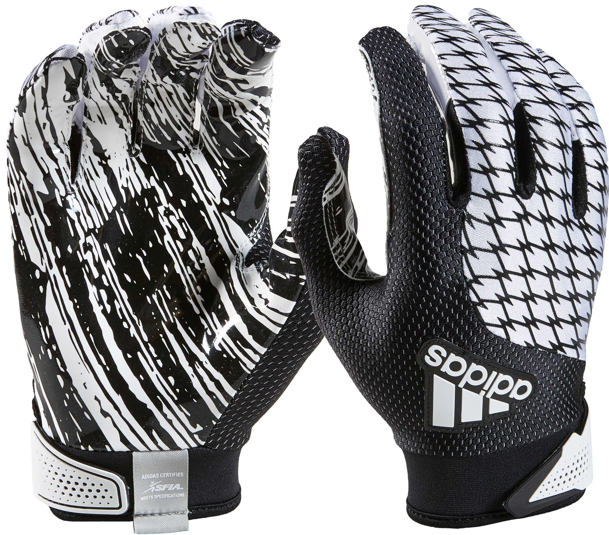 adidas Youth AdiFast 2.0 Receiver's Gloves, White/Black, Medium