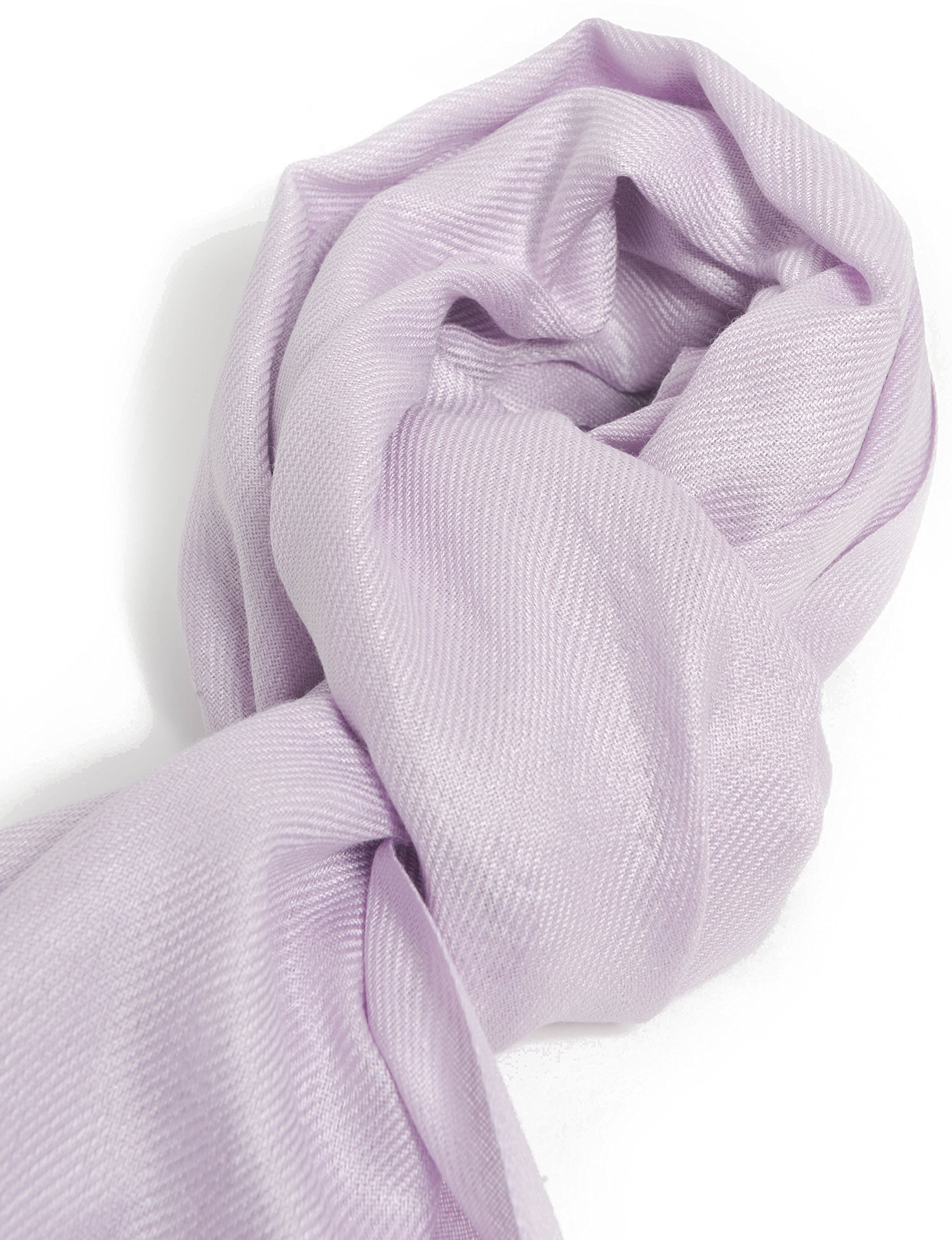 Premium Large Soft Silky Pashmina Shawl Wrap Scarf in Solid Colors (Light Purple)