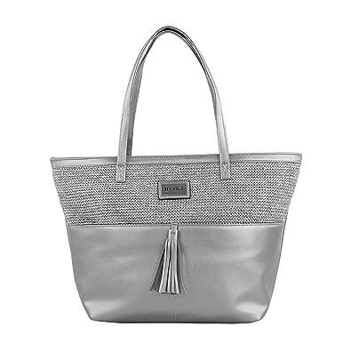 Bluebags FORTIMEBolso Fashion Hizb Plateado, Sacs portés épaule femme, é (Plata)
