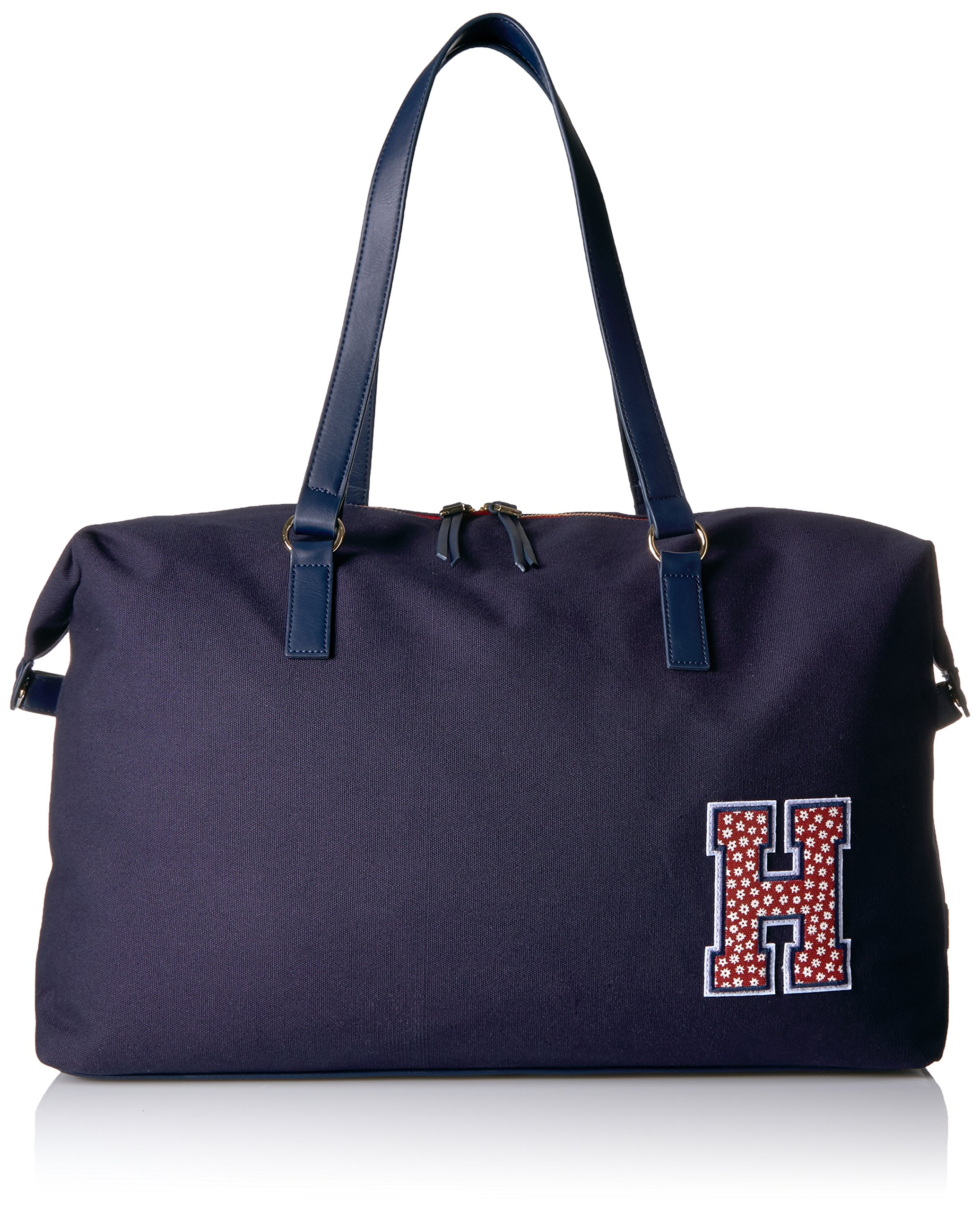 Tommy Hilfiger Women's Weekender Bag Canvas, Tommy Navy
