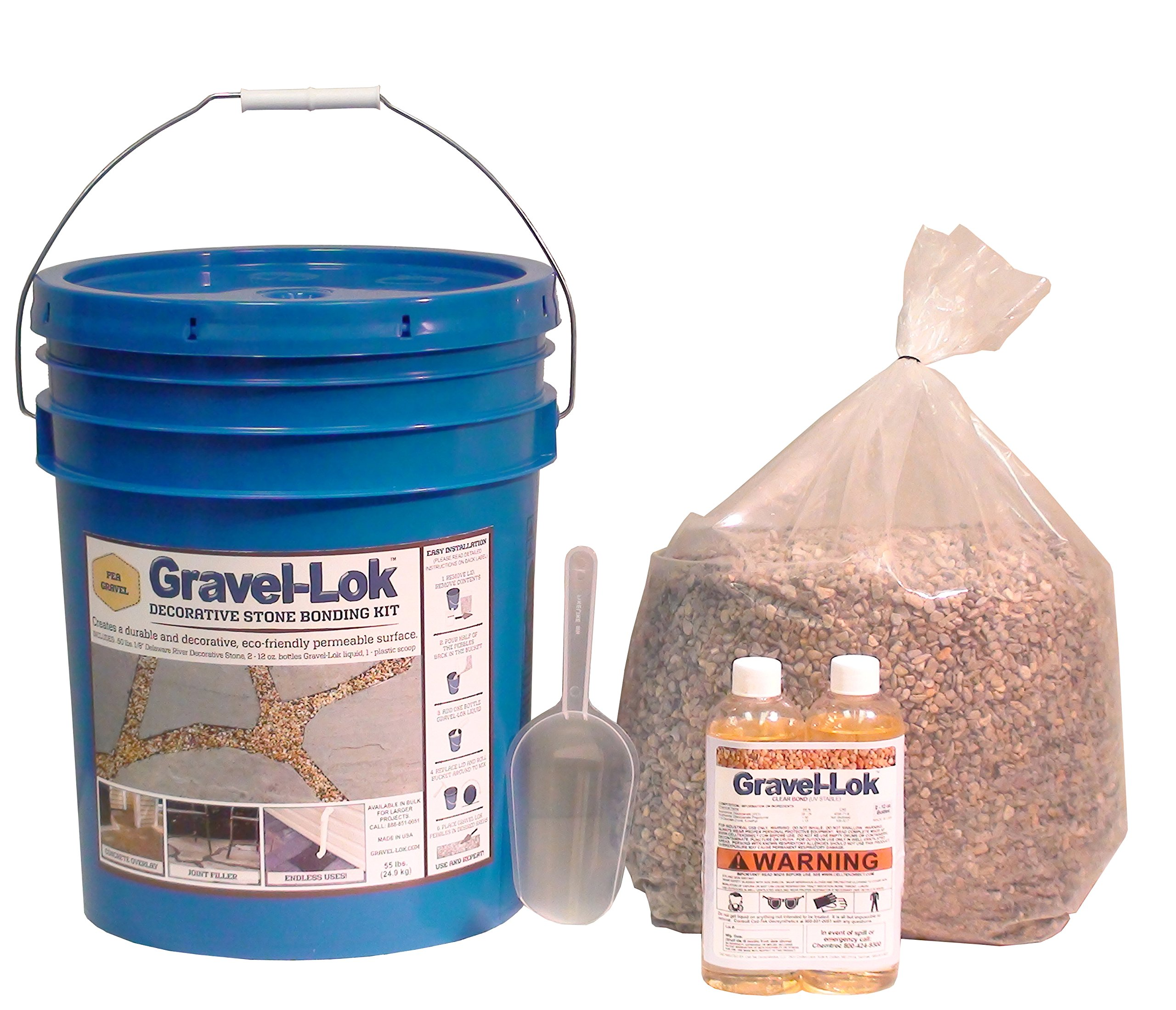 Gravel-Lok DIY Decorative Stone Bonding Kit - Pea Gravel by Gravel-Lok