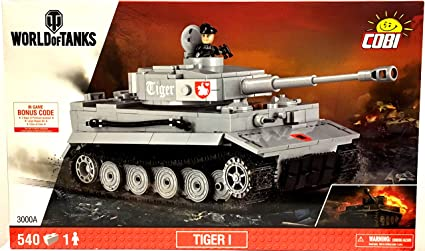 Cobi 3000A - World of Tanks Roll Out - Tiger I grau: Amazon.es ...