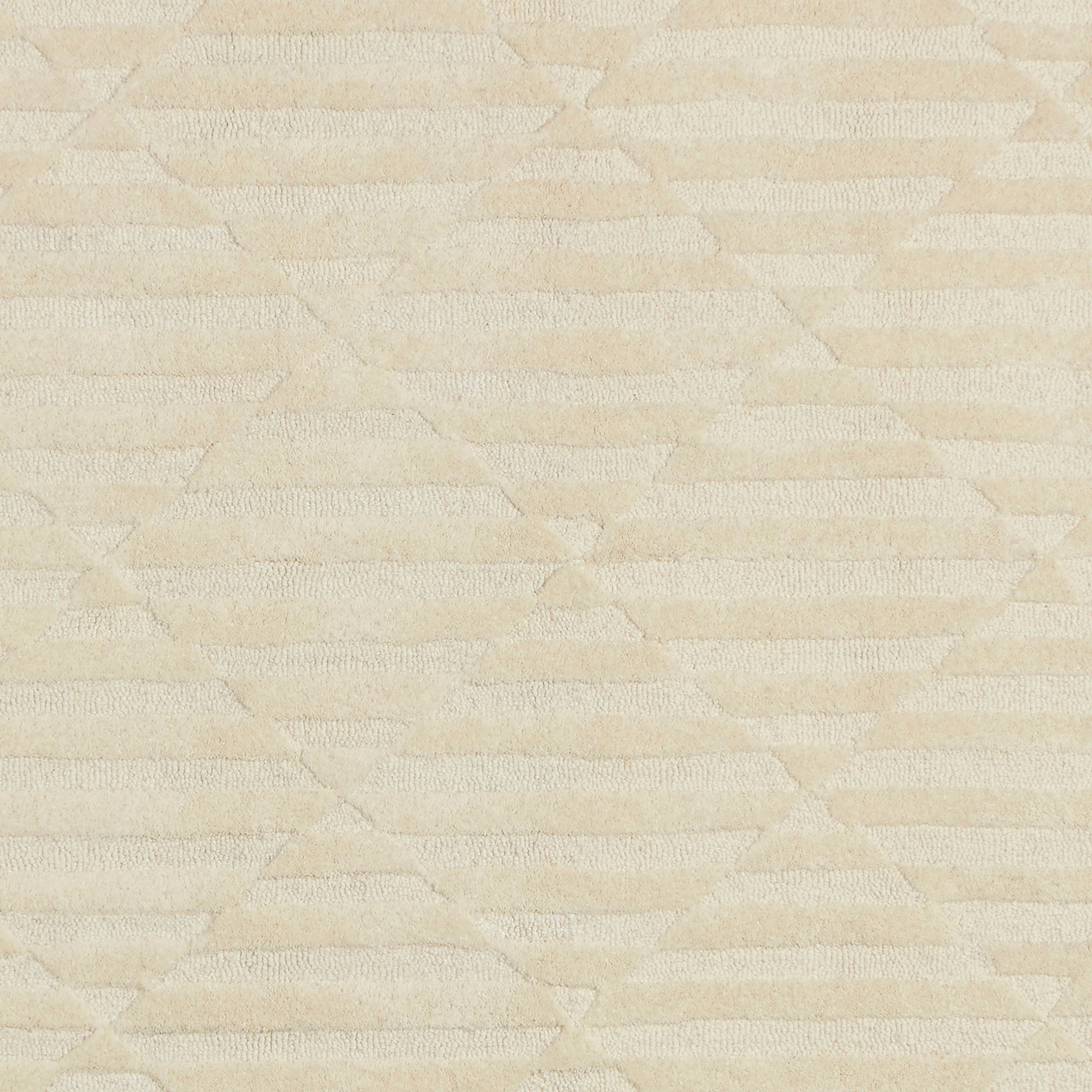 Rivet Geometric Criss-Cross Woven Wool Area Rug, 8' x 10', Cream by Rivet (Image #2)