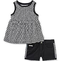 Calvin Klein - Juego de Pantalones Cortos para niña (2 Piezas)