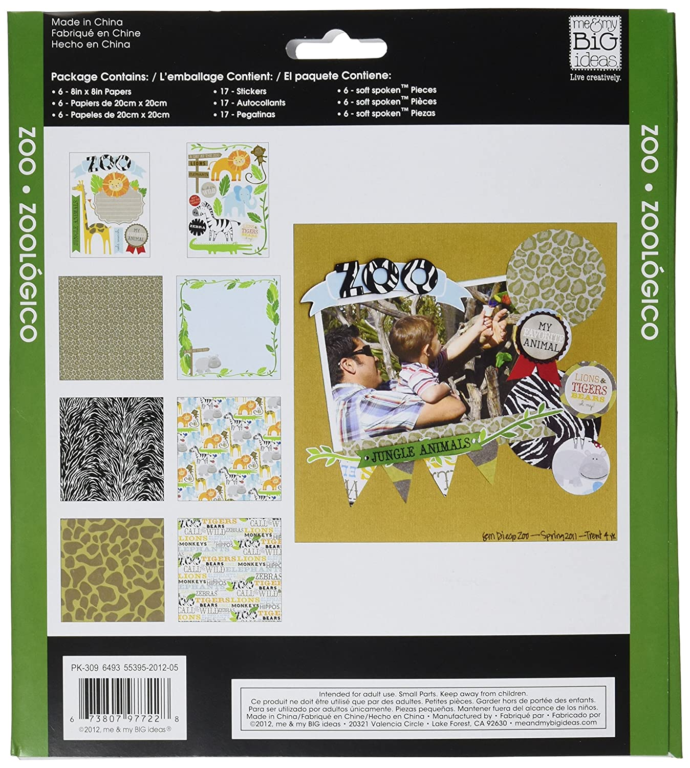 Zoo me /& my BIG ideas Scrapbook Page Kit 8-Inch by 8-Inch