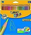 Bic - 832568 - Kids Tropicolors 2 - Crayons de Couleur - Lot de 24