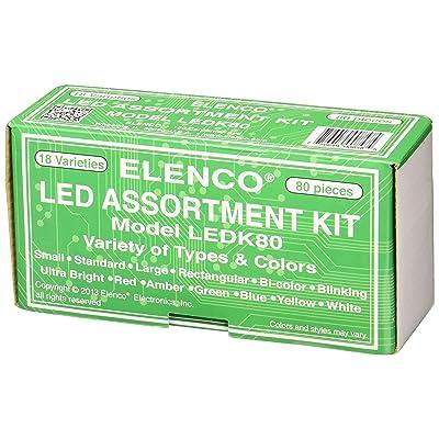 Elenco Electronics LEDK-80 80 pc LED Component Kit: Home Improvement