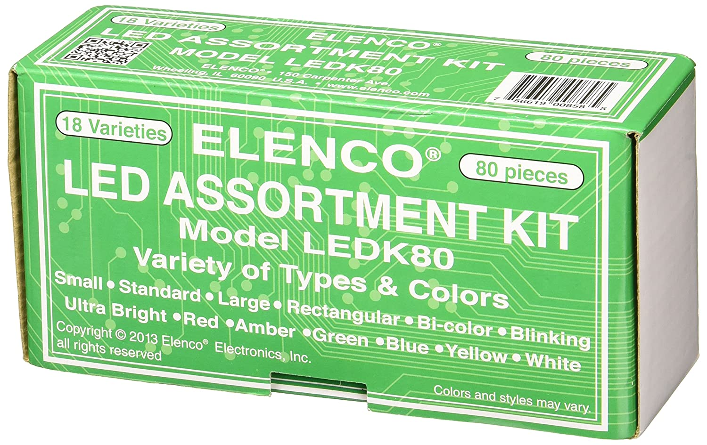Elenco Electronics Ledk 80 Pc Led Component Kit Home Bicolour Flasher Circuit Project Improvement