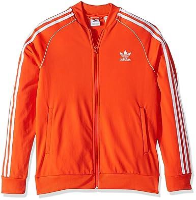 3f4bebd31b5 adidas Originals Boys' Big Superstar Jacket, Active Orange/White, Small