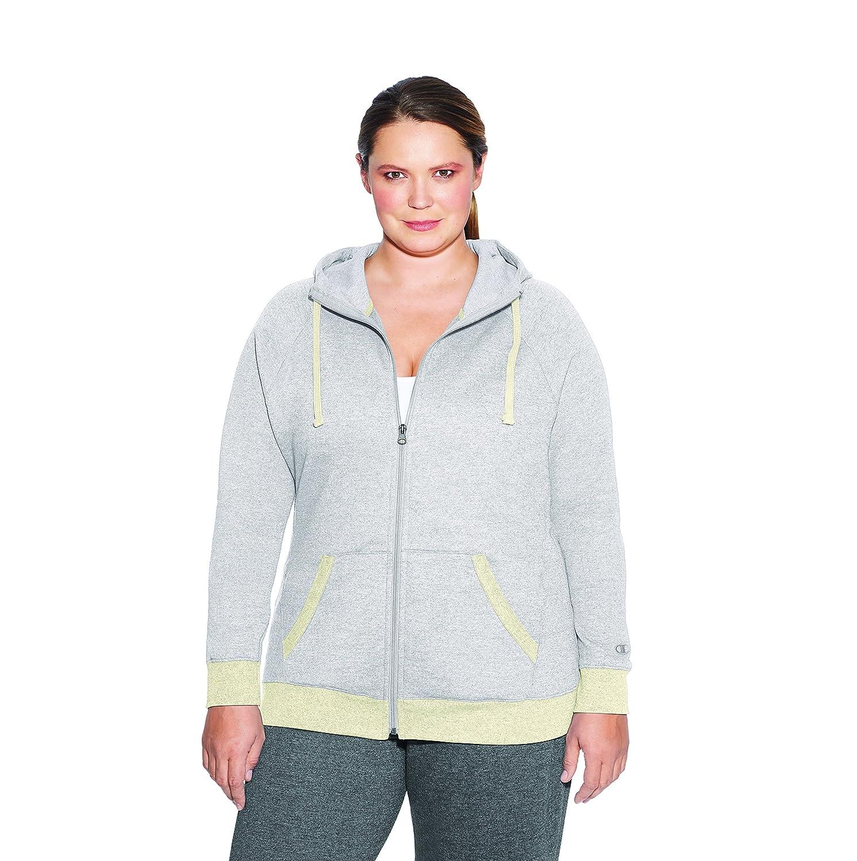 Champion Women's Plus Size Fleece Full Zip Hoodie QJ4853