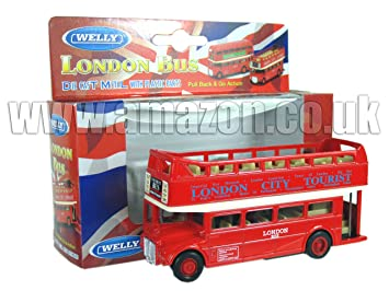 0ebdef9a987fc Diecast London Open Bus Top - Pull Back and Go d'action [Jouet ...