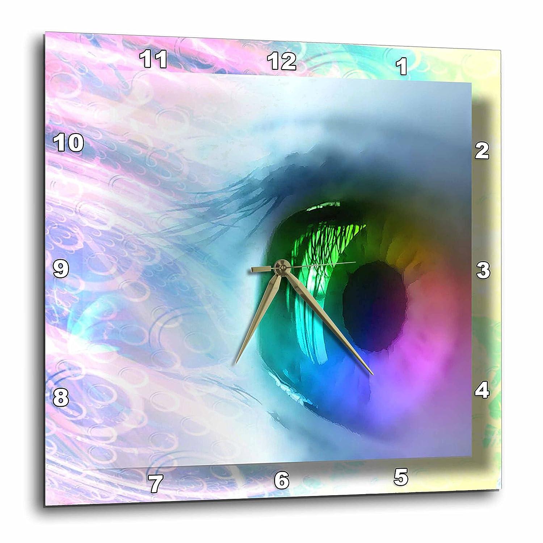 Rainbow Eye 10x10 Wall Clock dpp/_24177/_1 3dRose Susan Brown Designs General Themes
