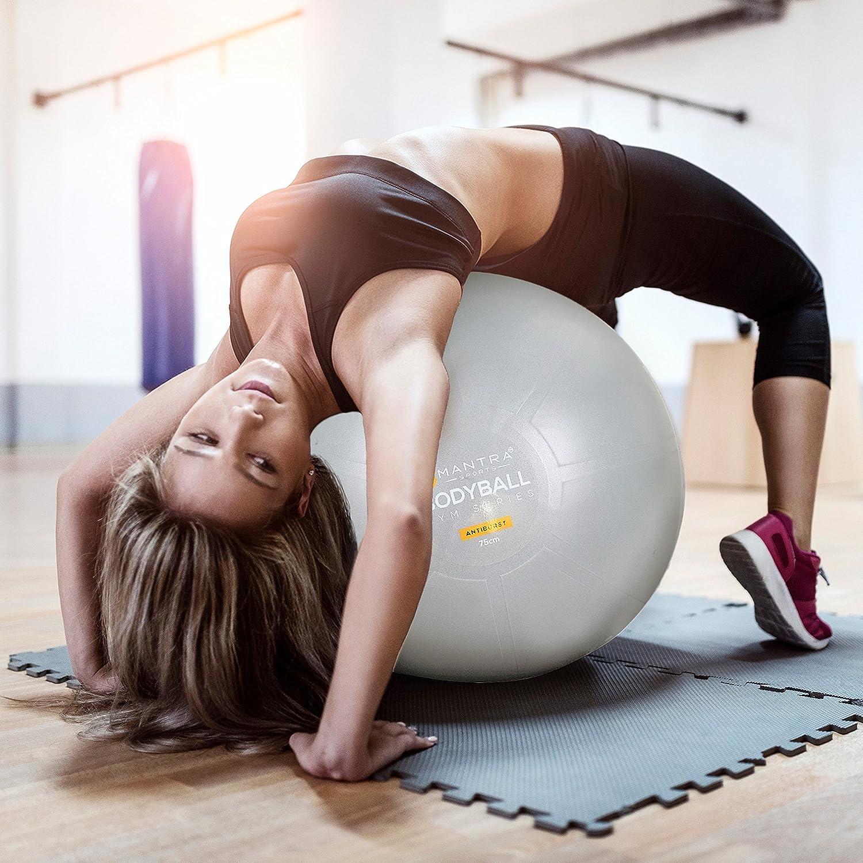 Core Training Kit 65 cm Exercise Ball Yoga Mat Medium Resistance Band /& Tube