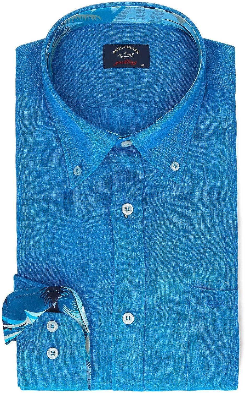 PAUL & SHARK Luxury Fashion Mens P19P3198015O Blue Shirt | Season Permanent