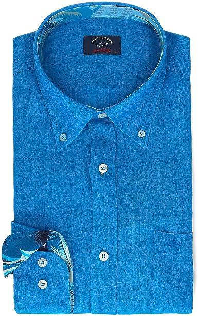 PAUL & SHARK Luxury Fashion Hombre P19P3198015O Azul Camisa | Primavera-Verano 19: Amazon.es: Ropa y accesorios