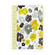 """bloom daily planners Fashion Journal Blank Lined Composition Notebook 7"""" x 10"""" - Watercolor"""