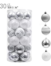 Valery Madelyn 30ct 60mm Shatterproof Christmas Ball Ornaments Decoration,Themed with Tree Skirt(Not Included)